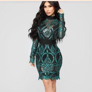 Fashion Nova Shine Like No Other Dress Holiday XL